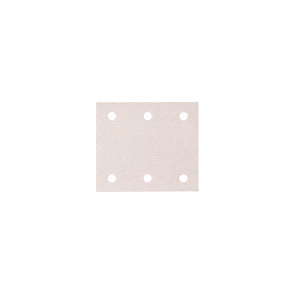 CARTA ABRASIVA WHITE PEFORATA CON VELCRO 114 X 102 MM GR. 80 PZ 50