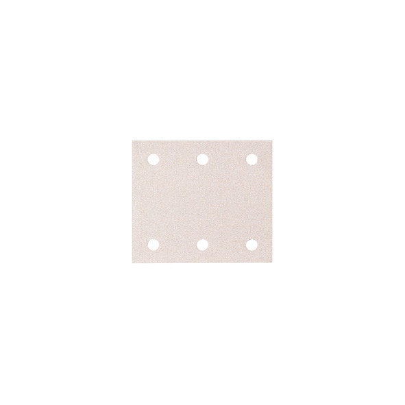 CARTA ABRASIVA WHITE PEFORATA CON VELCRO 114 X 102 MM GR. 120 PZ 50