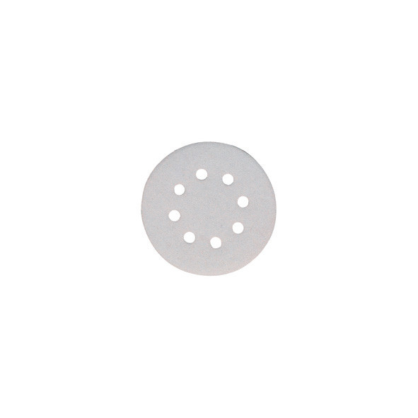 DISCO ABRASIVO WHITE CON VELCRO 125 MM GR. 40 PZ 10