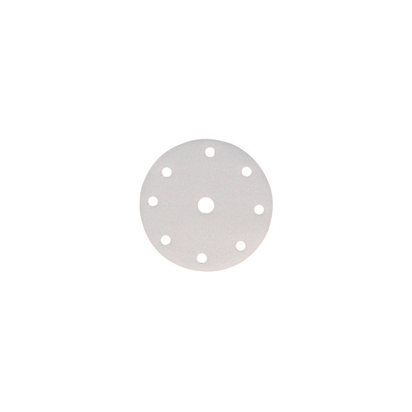 DISCO ABRASIVO WHITE 6 FORI CON VELCRO 150 MM GR. 60 PZ 50