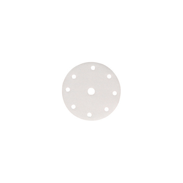 DISCO ABRASIVO 8 + 1 FORI CON VELCRO D.150 MM