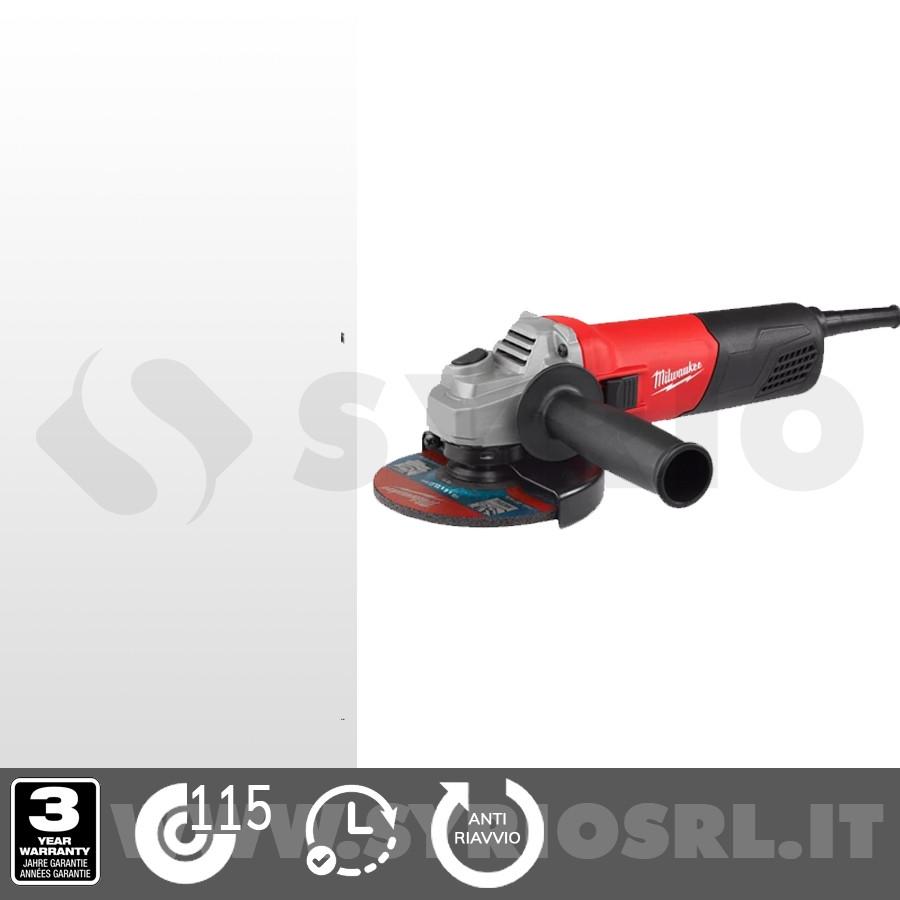 MILWAUKEE AG800-115E SMERIGLIATRICE ANGOLARE 800W 115mm TESTA COMPATTA