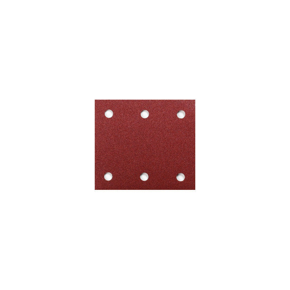 CARTA ABRASIVA PREFORATA CON VELCRO 114 X 102 MM GR. 60 PZ 10