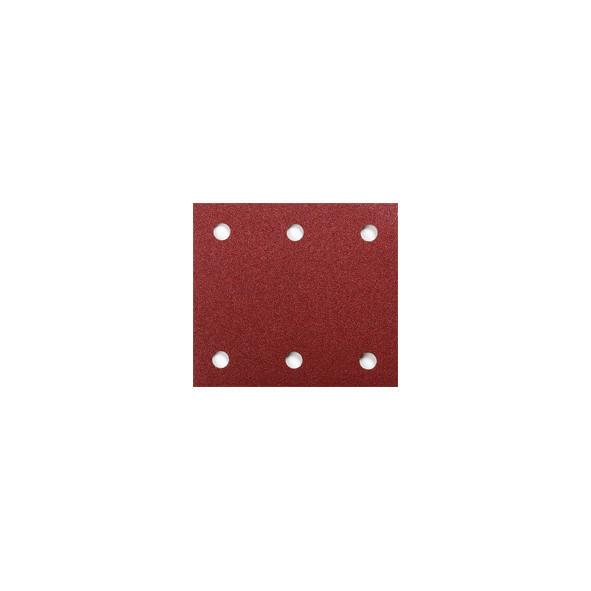 CARTA ABRASIVA PREFORATA CON VELCRO 114 X 102 MM GR. 150 PZ 10