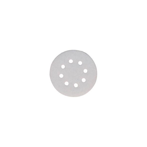 DISCO ABRASIVO WHITE CON VELCRO 125 MM GR. 180 PZ 10