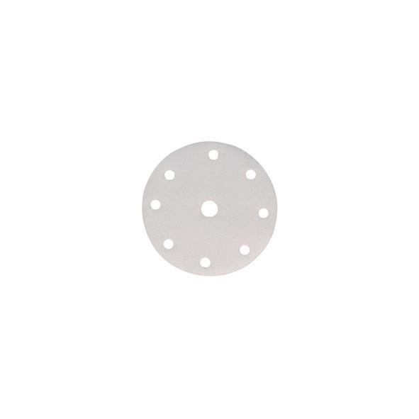 DISCO ABRASIVO WHITE 6 FORI CON VELCRO 150 MM GR. 120 PZ 10