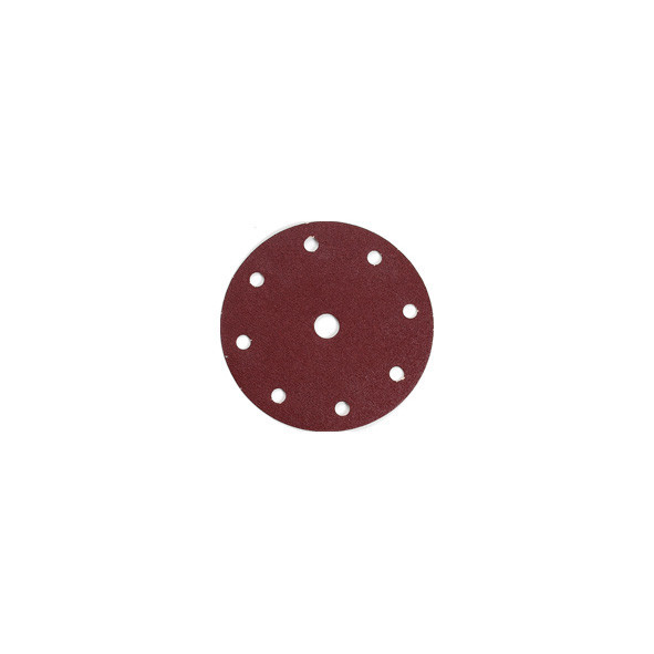 DISCO ABRASIVO 8 + 1 FORI CON VELCRO 150 MM GR. 60 PZ10