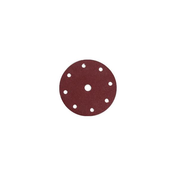 DISCO ABRASIVO 8 + 1 FORI CON VELCRO 150 MM GR. 100 PZ 10
