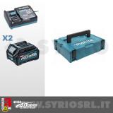 KIT ENERGY XGT 40Vmax COMPOSTO DA: 2 BATTERIE BL4025 2Ah + CARICABATTERIE DC40RA - 191J81-6
