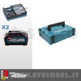 KIT ENERGY XGT 40Vmax COMPOSTO DA: 2 BATTERIE BL4040 4Ah + CARICABATTERIE DC40RA - 191J97-1