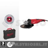 AG22-230 D-SET SMERIGLIATRICE ANGOLARE 2200W 230MM + VALIGETTA + DISCO DIAMANTATO - 4933440292
