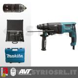 HR2631FT12 TASSELLATORE SDS-Plus 800W 3 FUNZIONI 26 mm + MANDRINO AUTOSERRANTE + VALIGETTA SET DI PUNTE