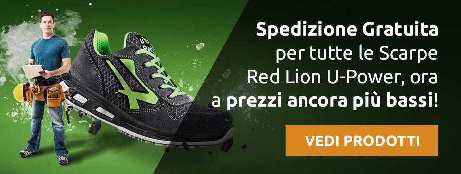 Spedizione Gratuita per tutte le Scarpe Red Lion U-Power, ora a prezzi ancora più bassi! - VEDI PRODOTTI