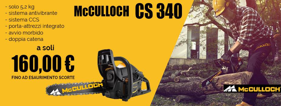MCCULLOCH CS340 PROMOZIONE A 160 EURO