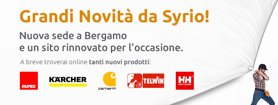 Grandi novità da Syrio! Nuova sede a Bergamo e un sito nuovo per l'occasione. A breve troverai online tanti nuovi prodotti.